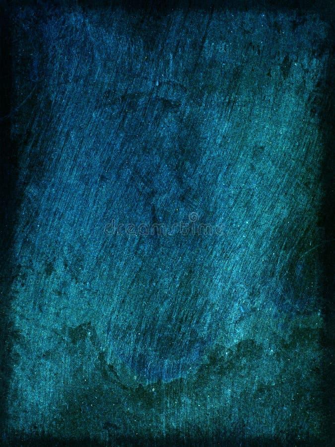 Blauwe ruwe houten textuur als achtergrond stock illustratie