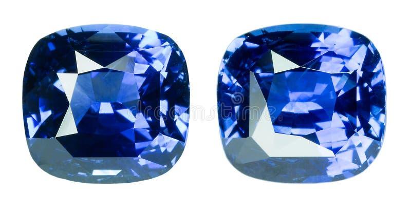 Blauwe saffier royalty-vrije stock afbeelding