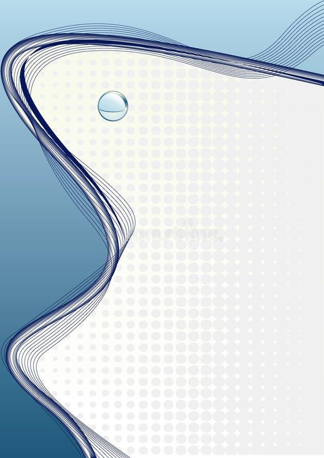 Blauwe samenstelling als achtergrond royalty-vrije illustratie