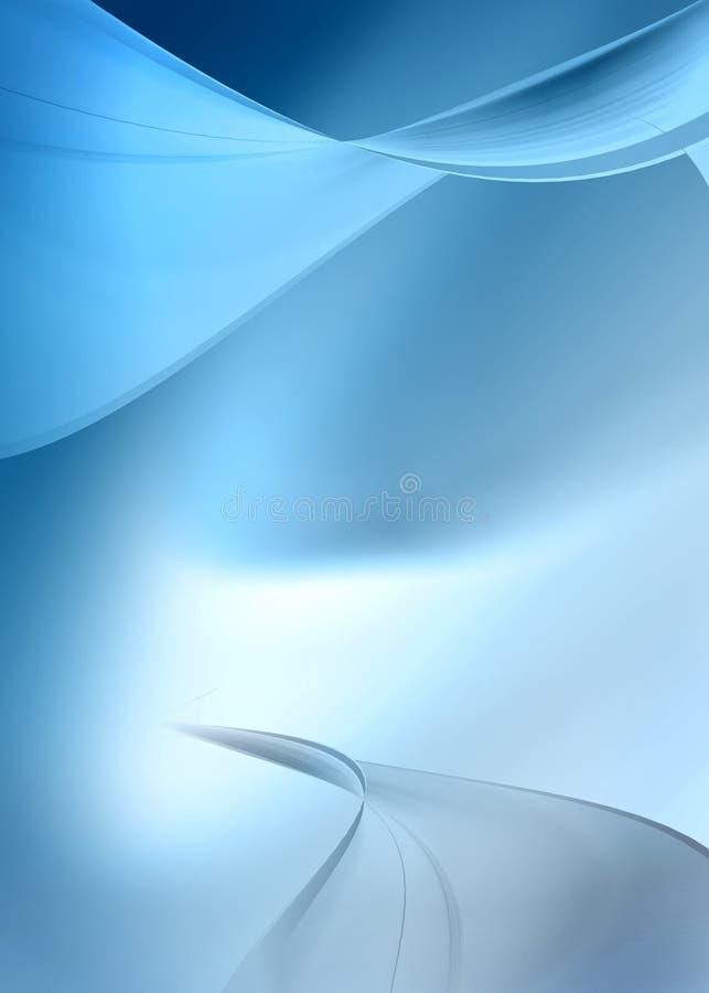 Blauwe samenvatting royalty-vrije illustratie