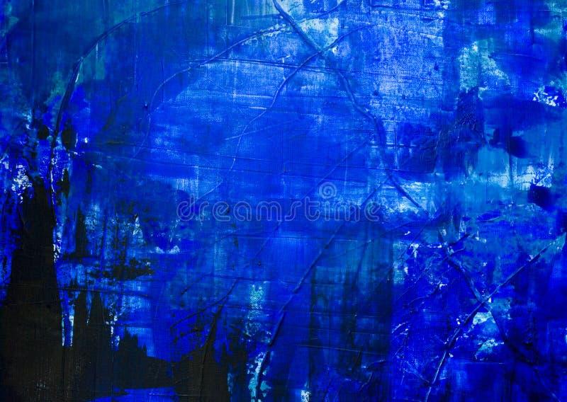Blauwe samenvatting geschilderde backgrou stock illustratie