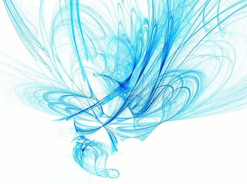 Blauwe Samenvatting op wit royalty-vrije illustratie
