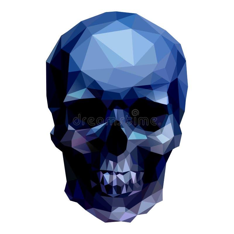 Blauwe schedel vector illustratie