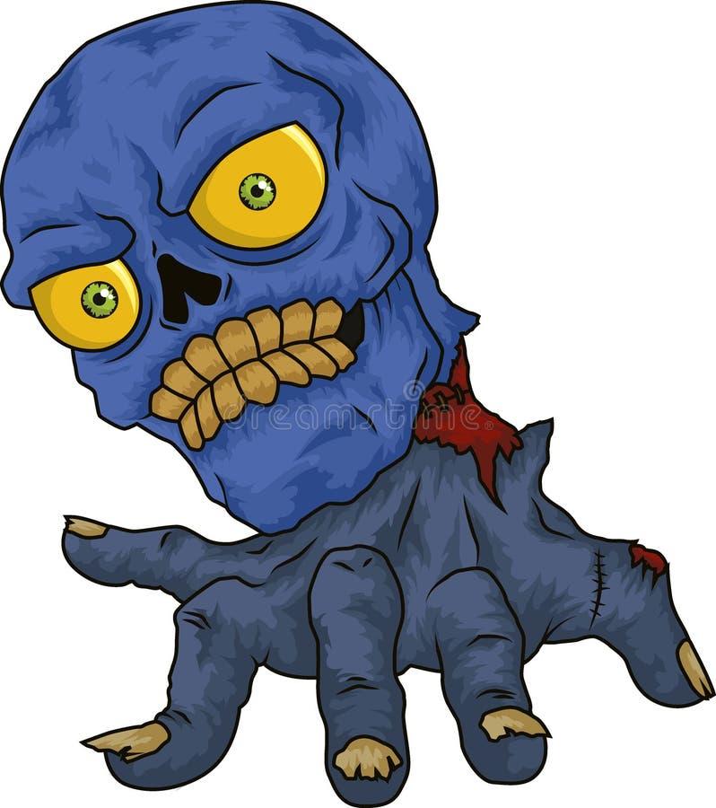 Blauwe schedel stock afbeelding