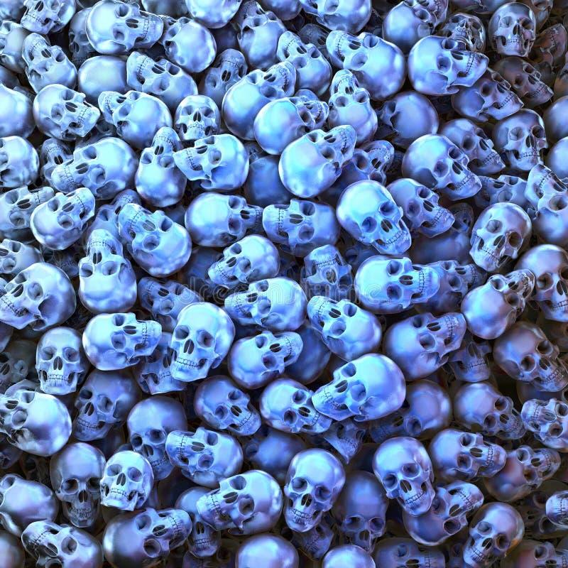 Blauwe schedels stock fotografie