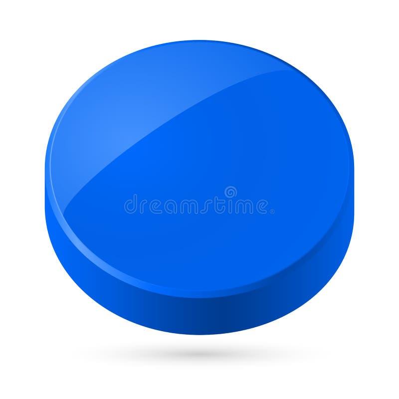 Blauwe schijf. vector illustratie