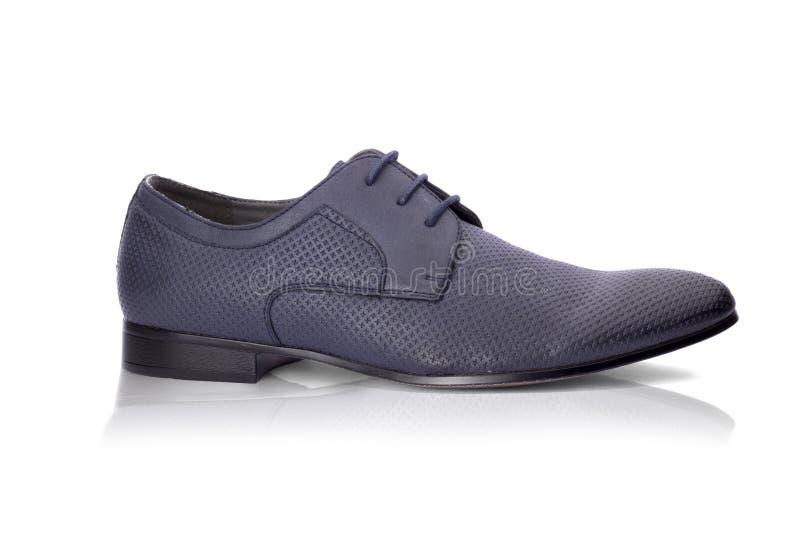 Blauwe schoen royalty-vrije stock fotografie
