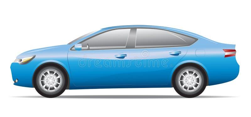 Blauwe sedanauto royalty-vrije stock foto
