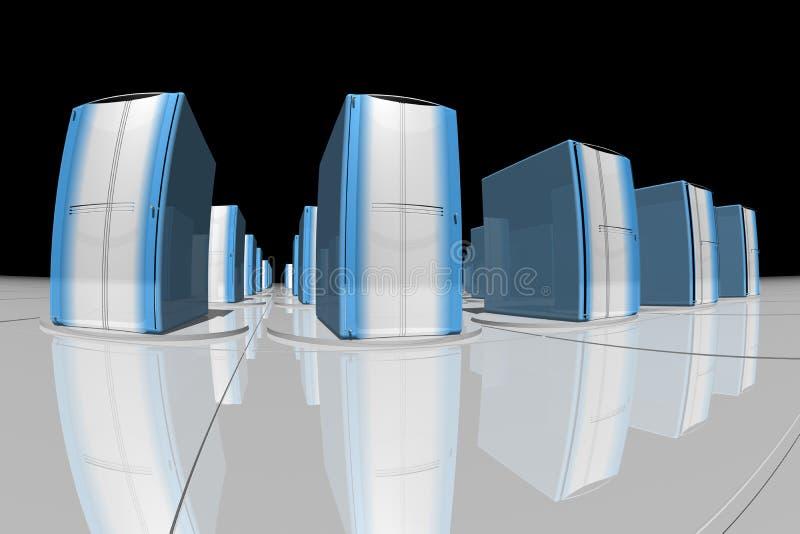 Blauwe servers vector illustratie