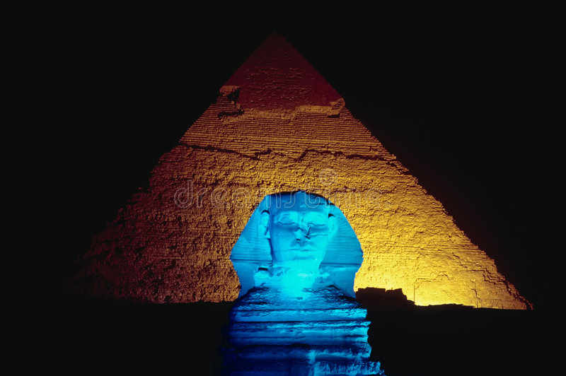 Blauwe Sfinx royalty-vrije stock foto's