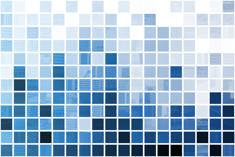 Blauwe Simplistische en Minimalistische Samenvatting vector illustratie