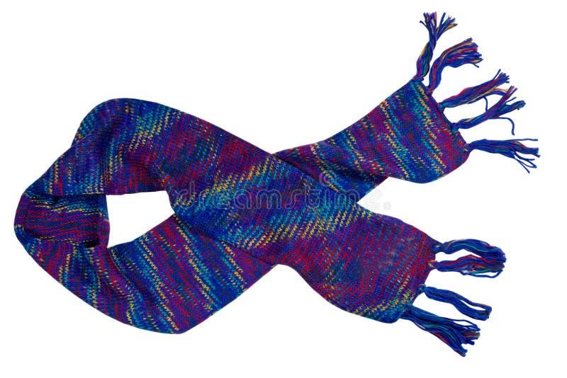 Blauwe sjaal royalty-vrije stock afbeelding