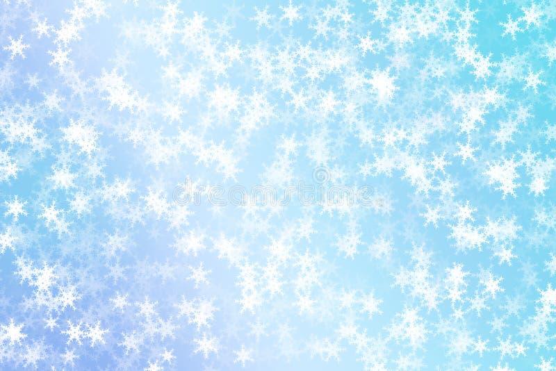 Blauwe sneeuwvlokkenachtergrond royalty-vrije illustratie