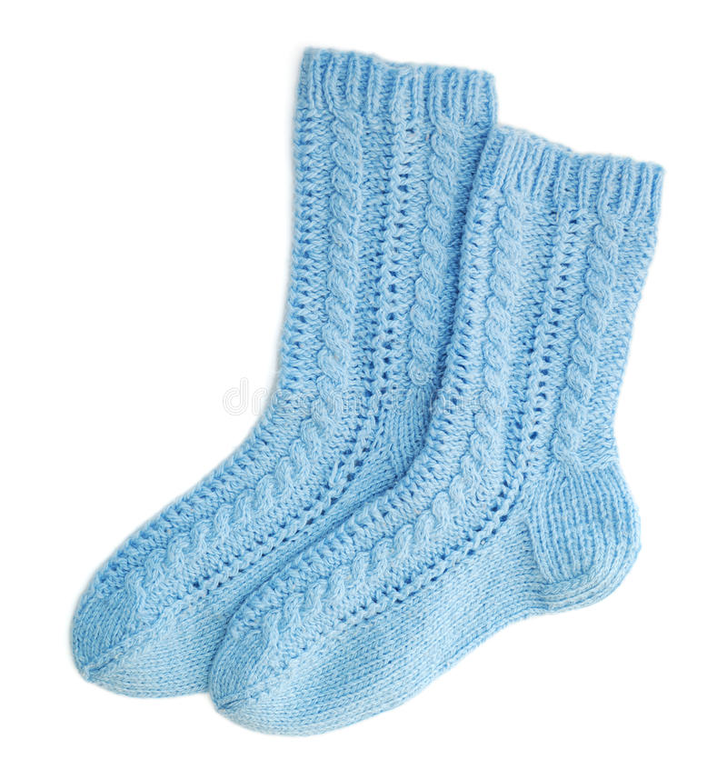 Blauwe sokken royalty-vrije stock foto's