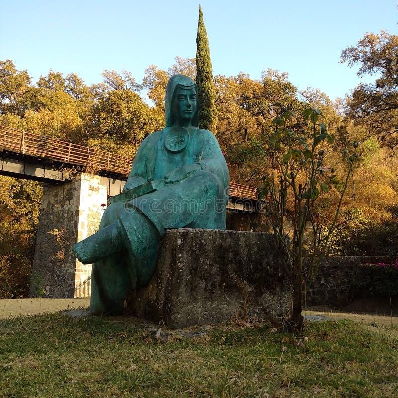 Blauwe Sor Juana royalty-vrije stock foto's
