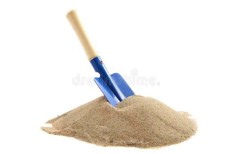 Blauwe spade stock afbeelding