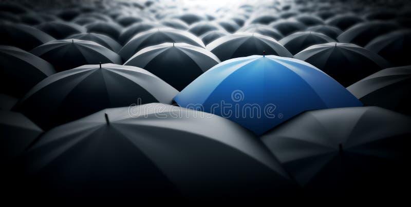 Blauwe speciale paraplu royalty-vrije stock fotografie