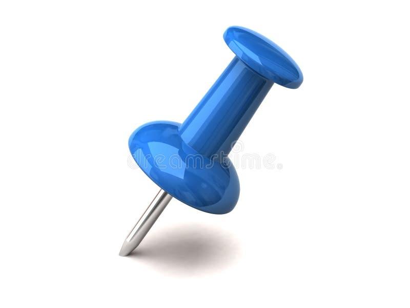 Blauwe speld stock illustratie