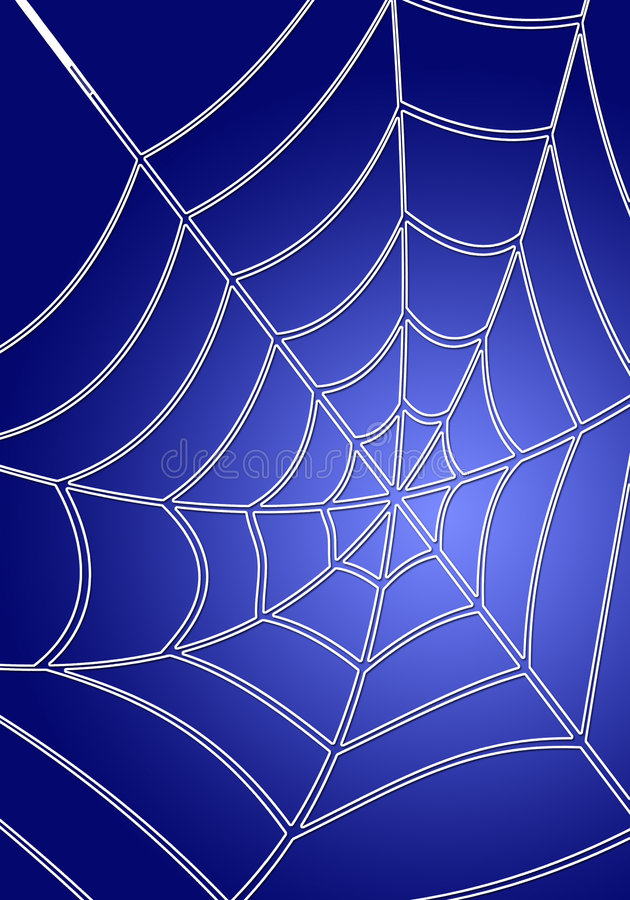 Blauwe spiderweb vector illustratie