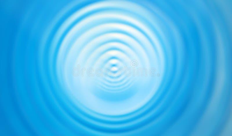 Blauwe spiraal stock illustratie