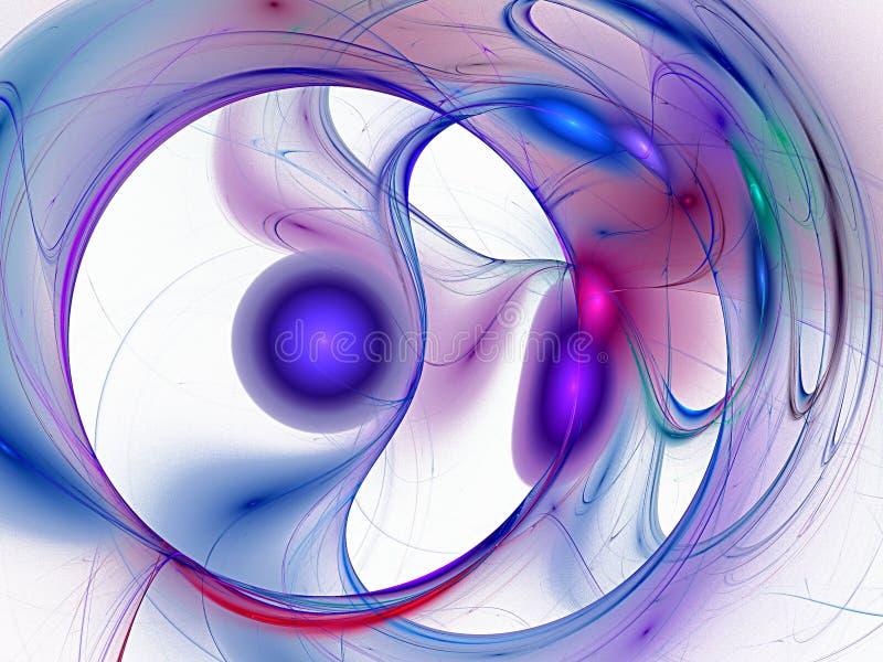 Blauwe spiraal en achtergrond van meditatie royalty-vrije illustratie