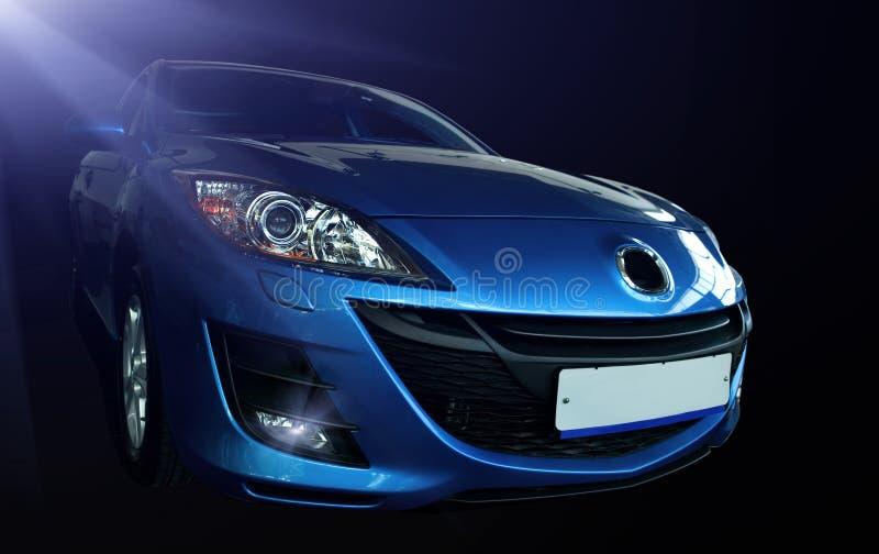 Blauwe sportwagen   royalty-vrije stock fotografie
