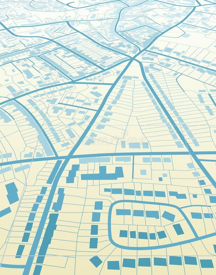 Blauwe stad vector illustratie