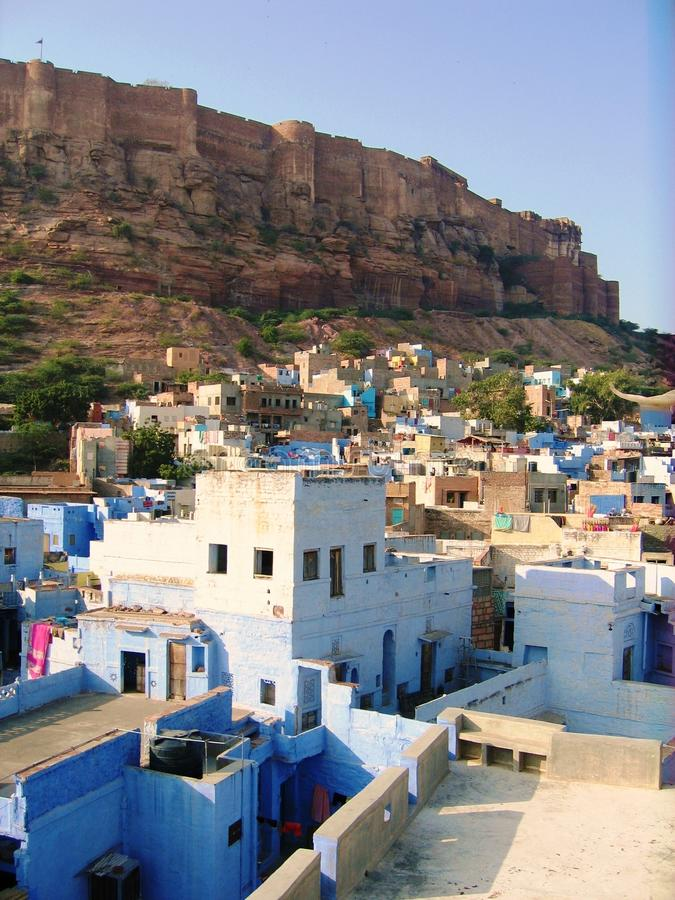 Blauwe Stad van Jodhpur royalty-vrije stock foto