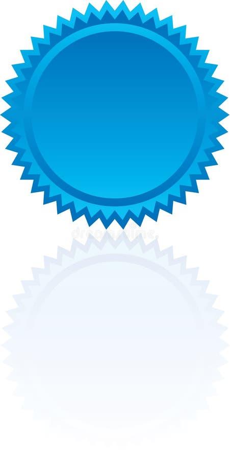 Blauwe Starburst vector illustratie