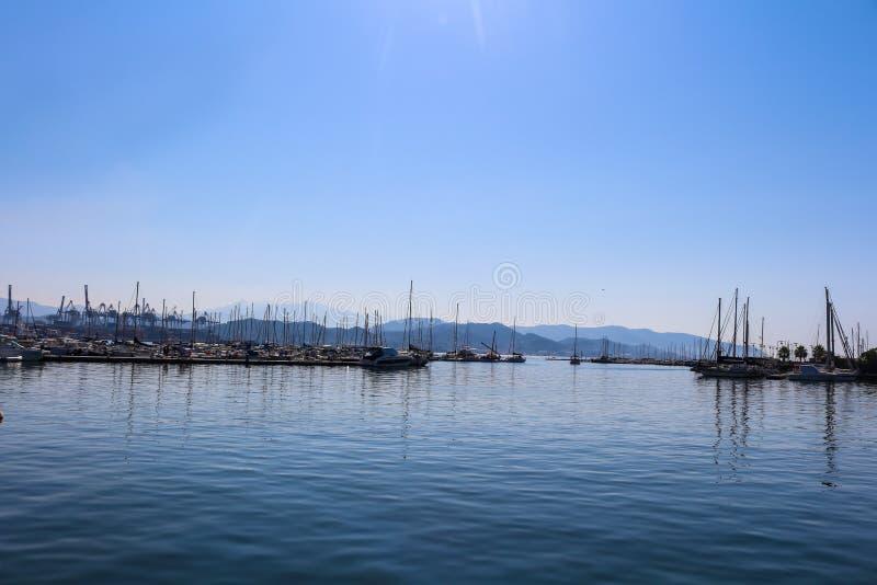 Blauwe stemming van Middellandse Zee stock afbeeldingen