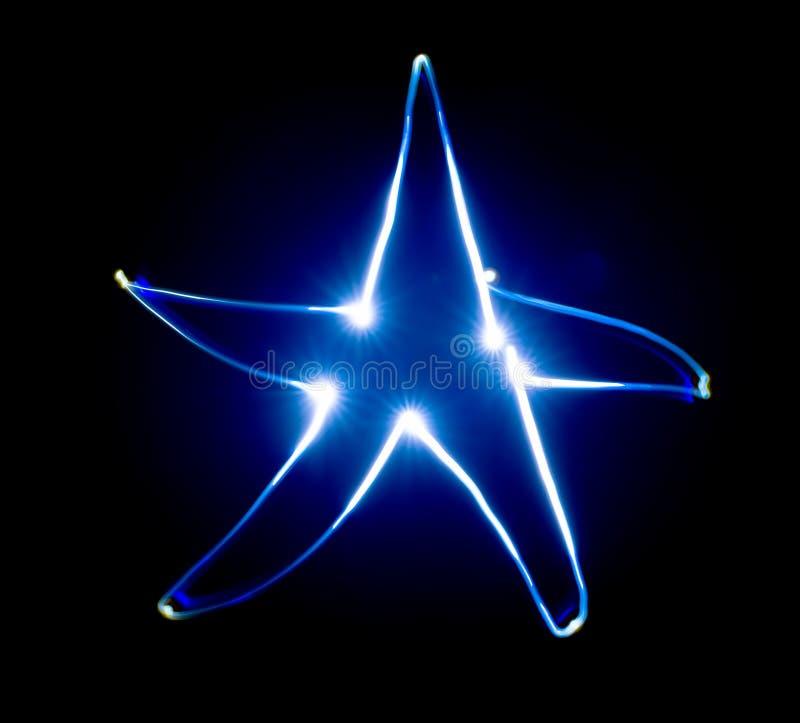 Blauwe ster stock foto's