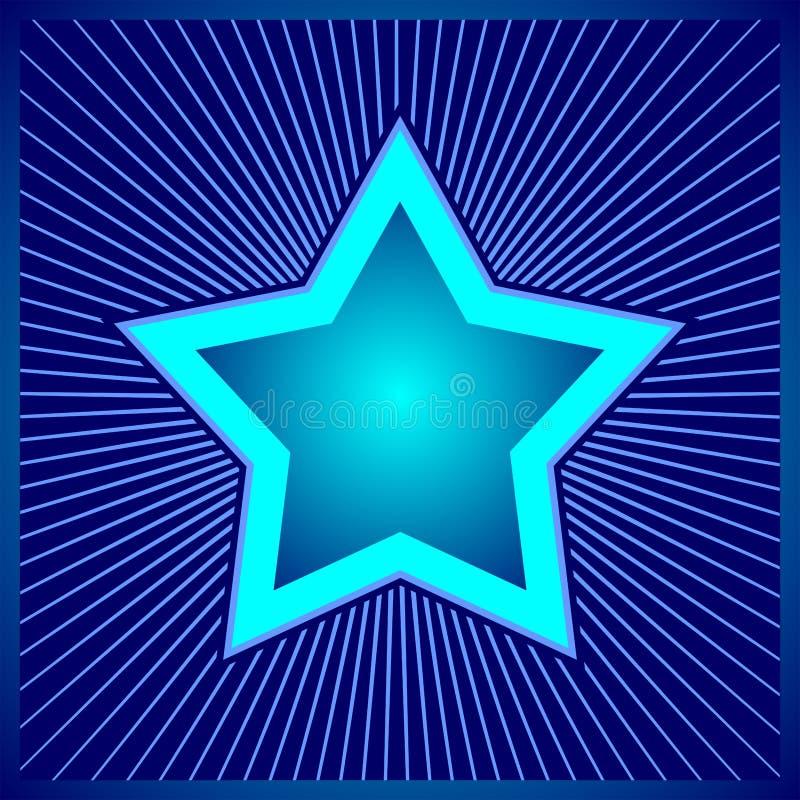 Blauwe ster - digitaal ontwerp royalty-vrije stock afbeelding