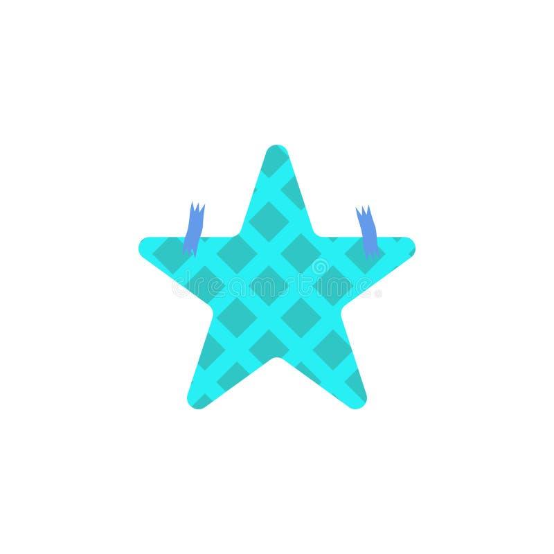 Blauwe sterdocument stickers, eps10 stock illustratie