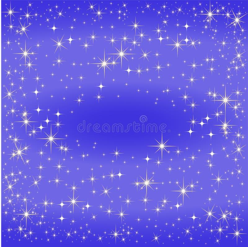 Blauwe sterkaart, de Melkweg royalty-vrije illustratie