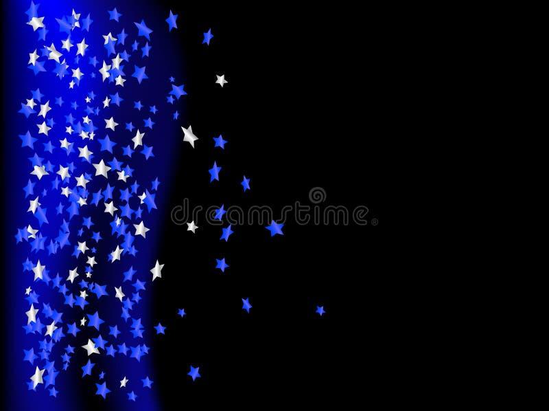 Blauwe sterren vector illustratie