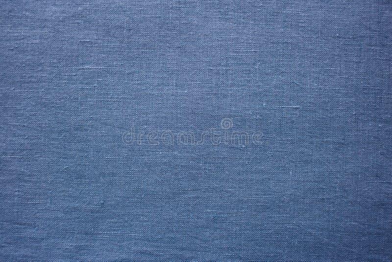 Blauwe stof, gedetailleerde textieloppervlakte royalty-vrije stock foto