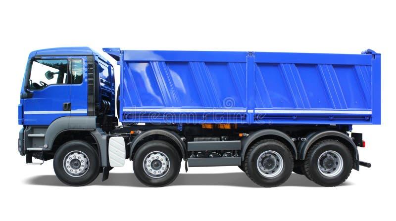 Blauwe stortplaatsvrachtwagen royalty-vrije stock foto