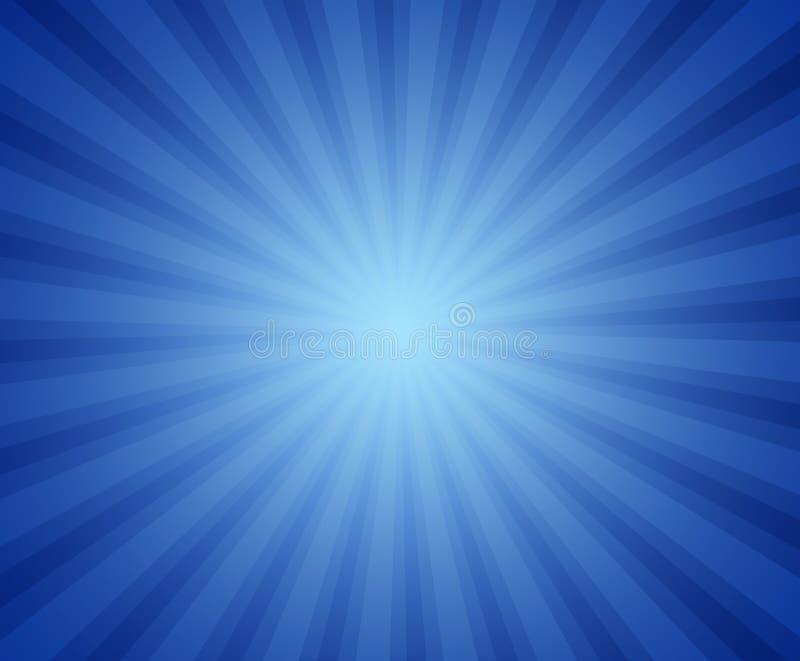 Blauwe straalachtergrond vector illustratie