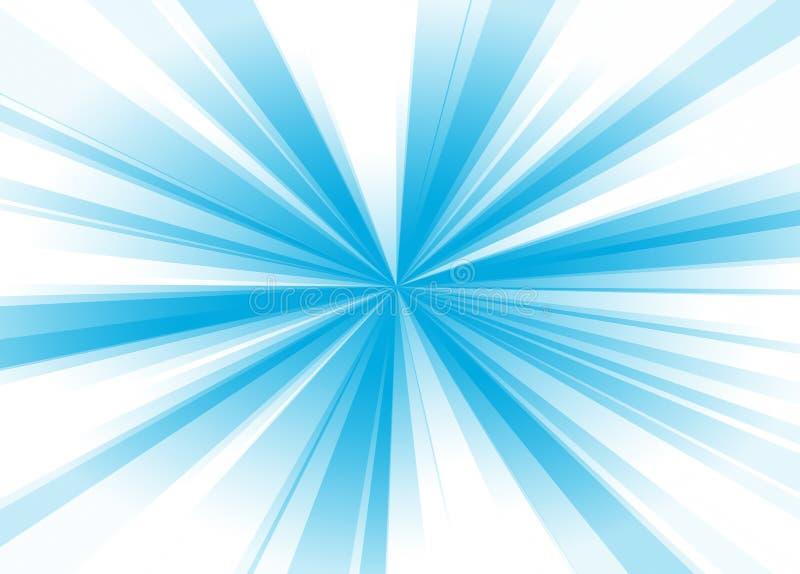 Blauwe stralen vector illustratie
