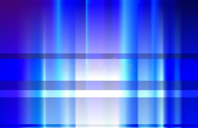 Blauwe stralen. stock illustratie