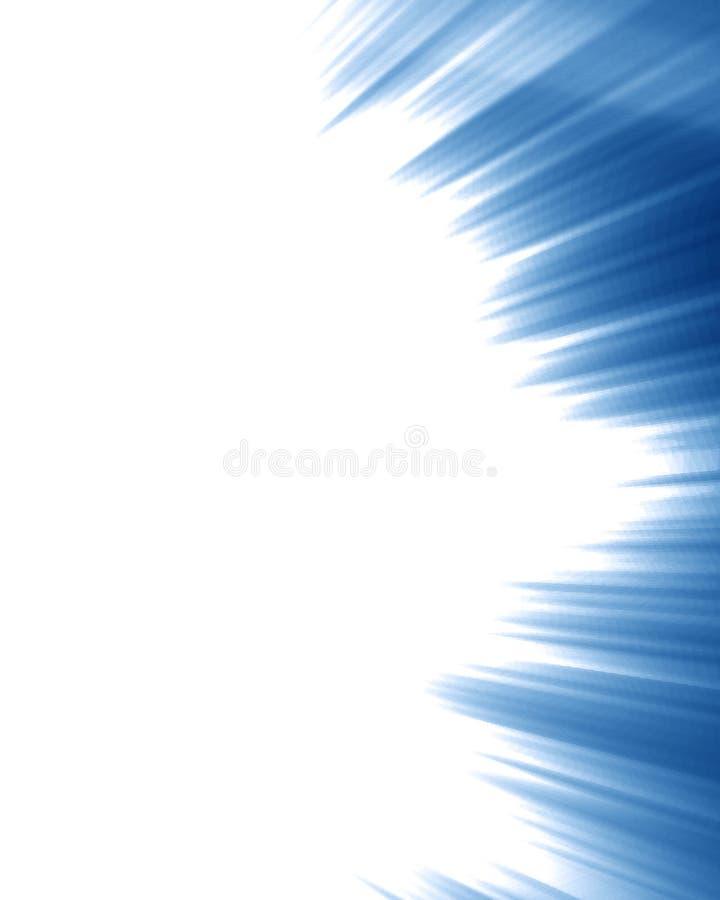 Blauwe stralen