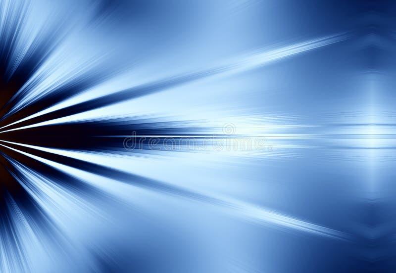 Blauwe Stralen van Lichte Achtergrond royalty-vrije illustratie