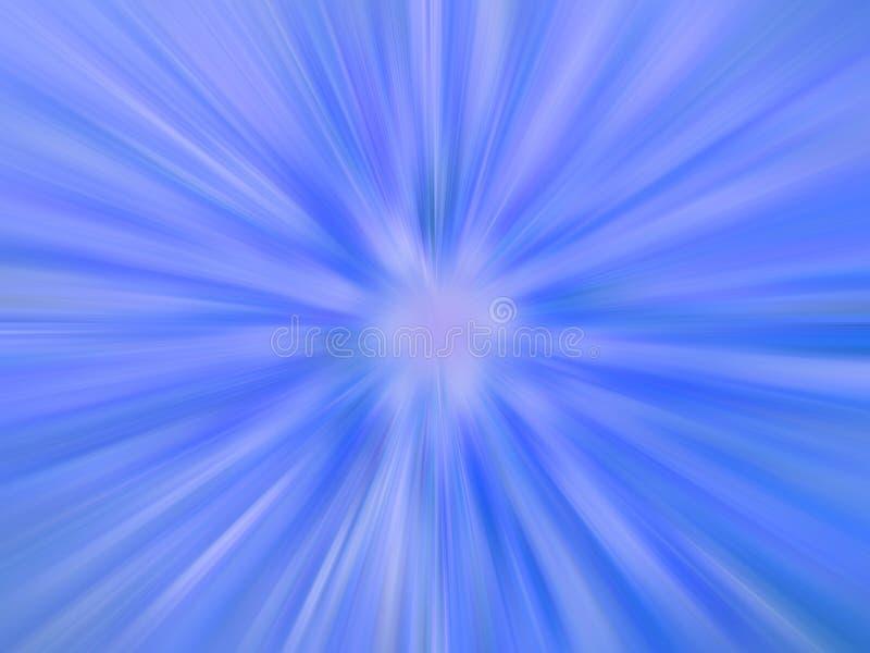 Blauwe stralende radiale flitsachtergrond stock illustratie