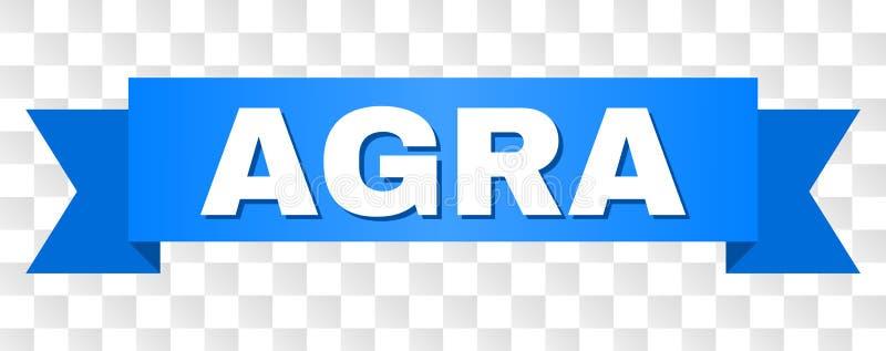 Blauwe Streep met AGRA-Titel vector illustratie