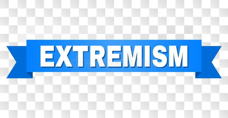 Blauwe Streep met EXTREMISM Tekst stock illustratie