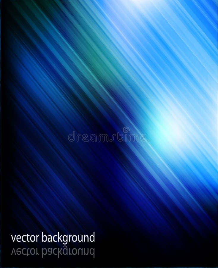 Blauwe strook abstracte achtergrond stock illustratie