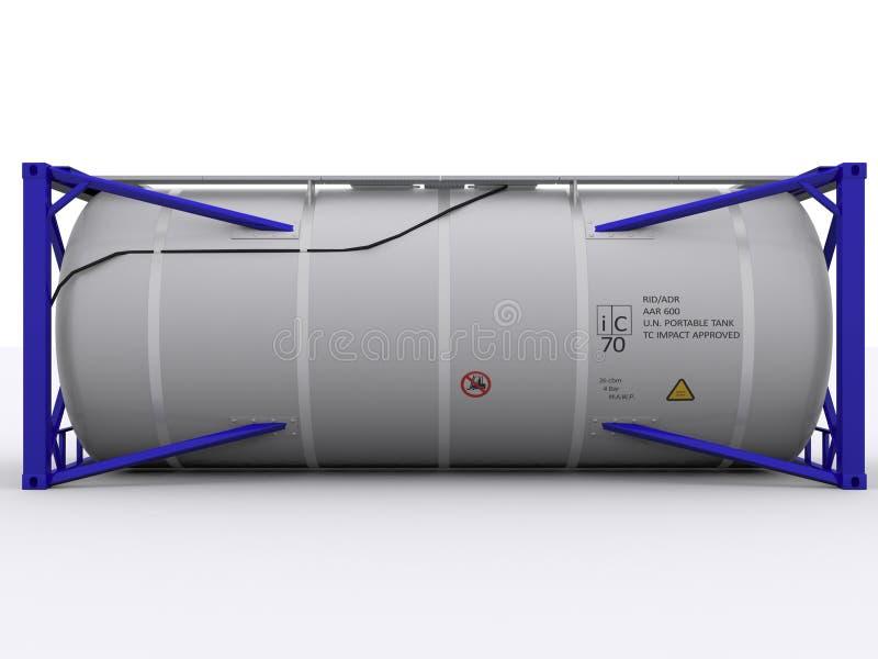 Blauwe tankcontainer stock illustratie