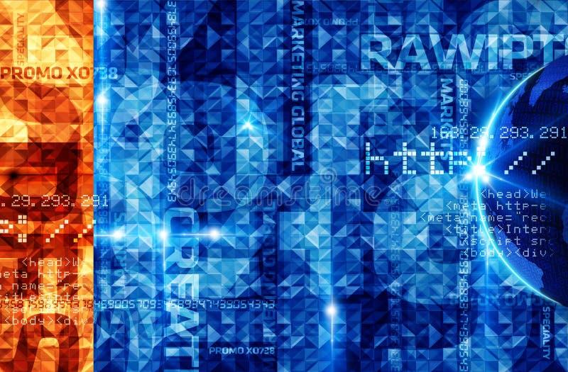 Blauwe Techno-Achtergrond royalty-vrije illustratie