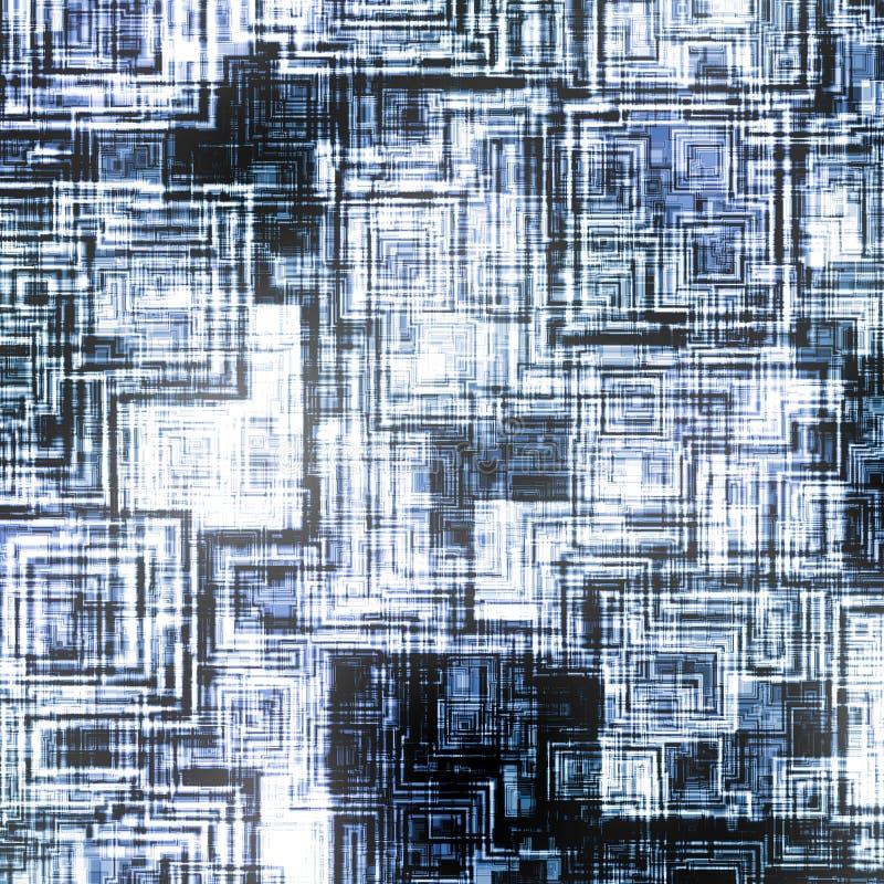 Blauwe technoachtergrond stock illustratie
