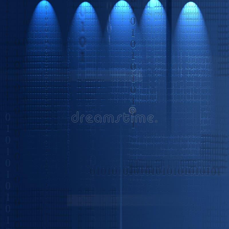 Blauwe Technologie royalty-vrije illustratie